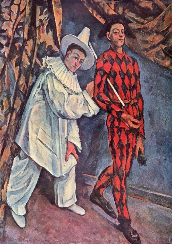 Cezanne, Paul: Pierrot and Harlequin (Mardi Gras  Carnival), 1888. Fine Art Print/Poster. Sizes: A4/A3/A2/A1 (001020)